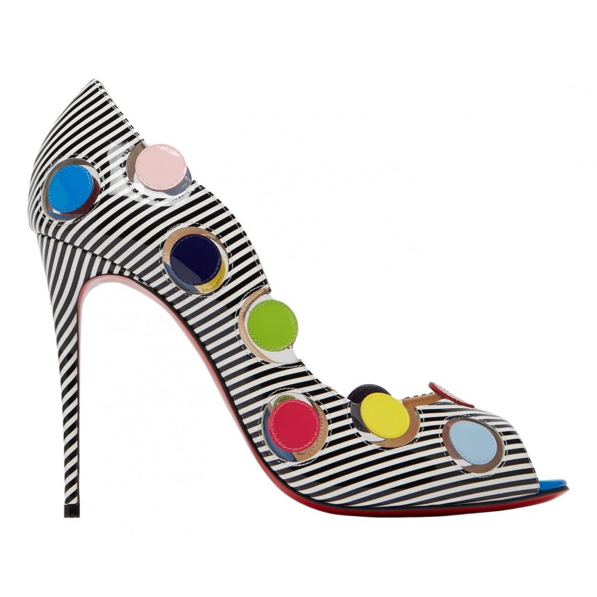 Christian Louboutin - Sandales   pour femme en cuir verni - multicolore