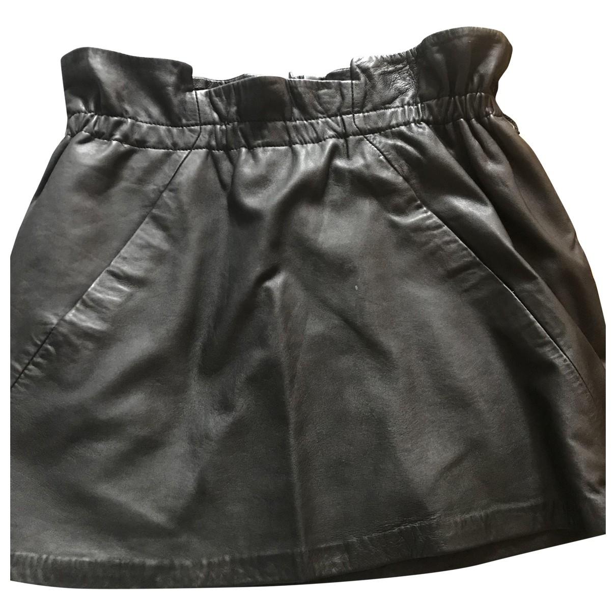 Bel Air \N Black Leather skirt for Women 42 FR