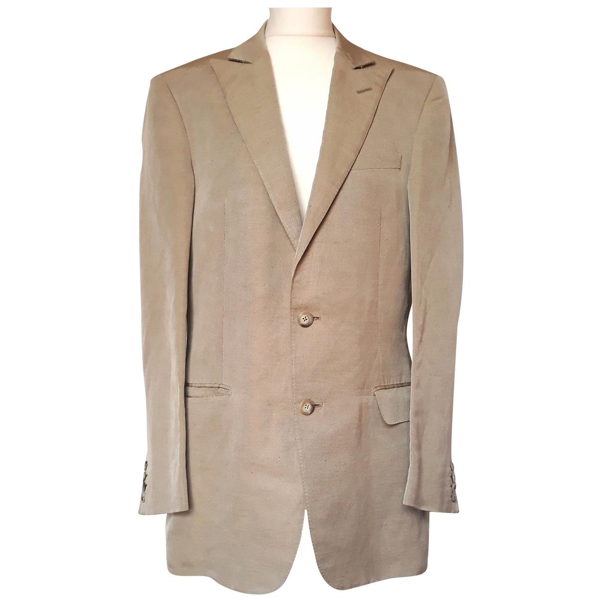 Versace - Vestes.Blousons   pour homme en lin - beige