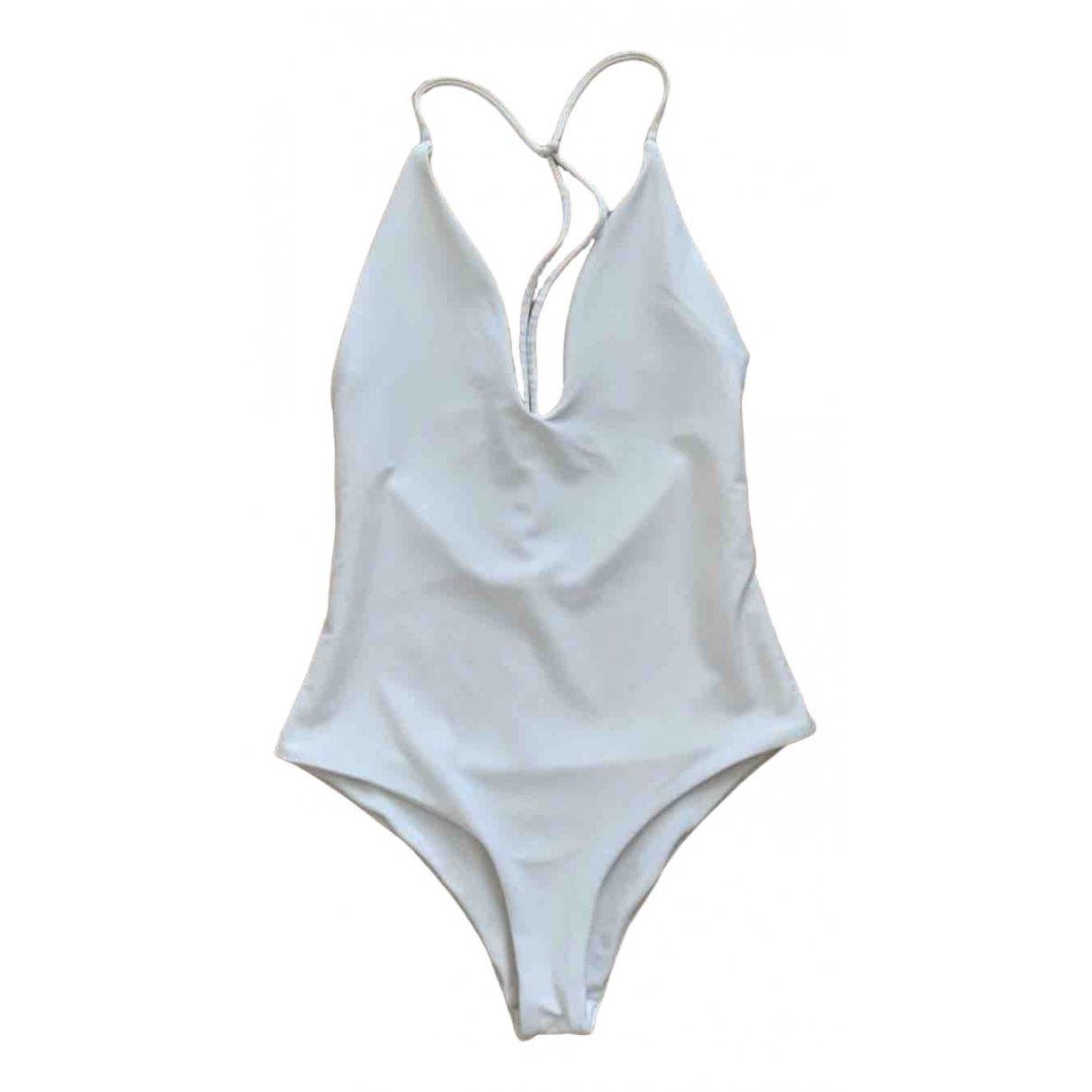 Jade Swim - Bain   pour femme en lycra - blanc