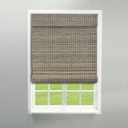 RADIANCE NEWPORT CORDLESS PRIVACY WEAVE ROMAN SHADE, One Size , Gray
