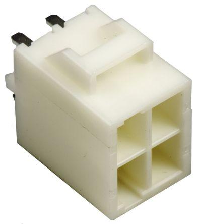 JST , HL, B04P, 4 Way, 2 Row, Straight PCB Header (5)