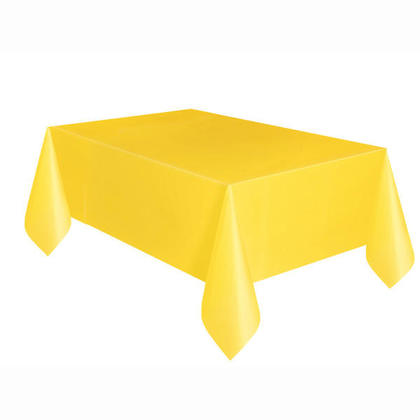 Party Plastic Table Cover Rectangular, Sunflower Yellow Solid 54
