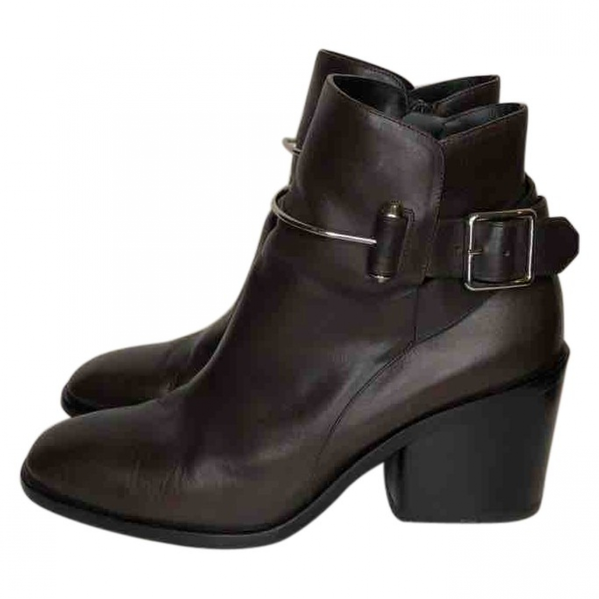 Balenciaga \N Brown Leather Ankle boots for Women 40 EU