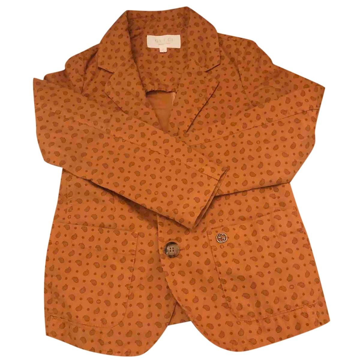 Gucci \N Jacke, Maentel in  Orange Baumwolle