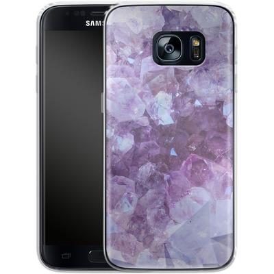 Samsung Galaxy S7 Silikon Handyhuelle - Light Crystals von Emanuela Carratoni