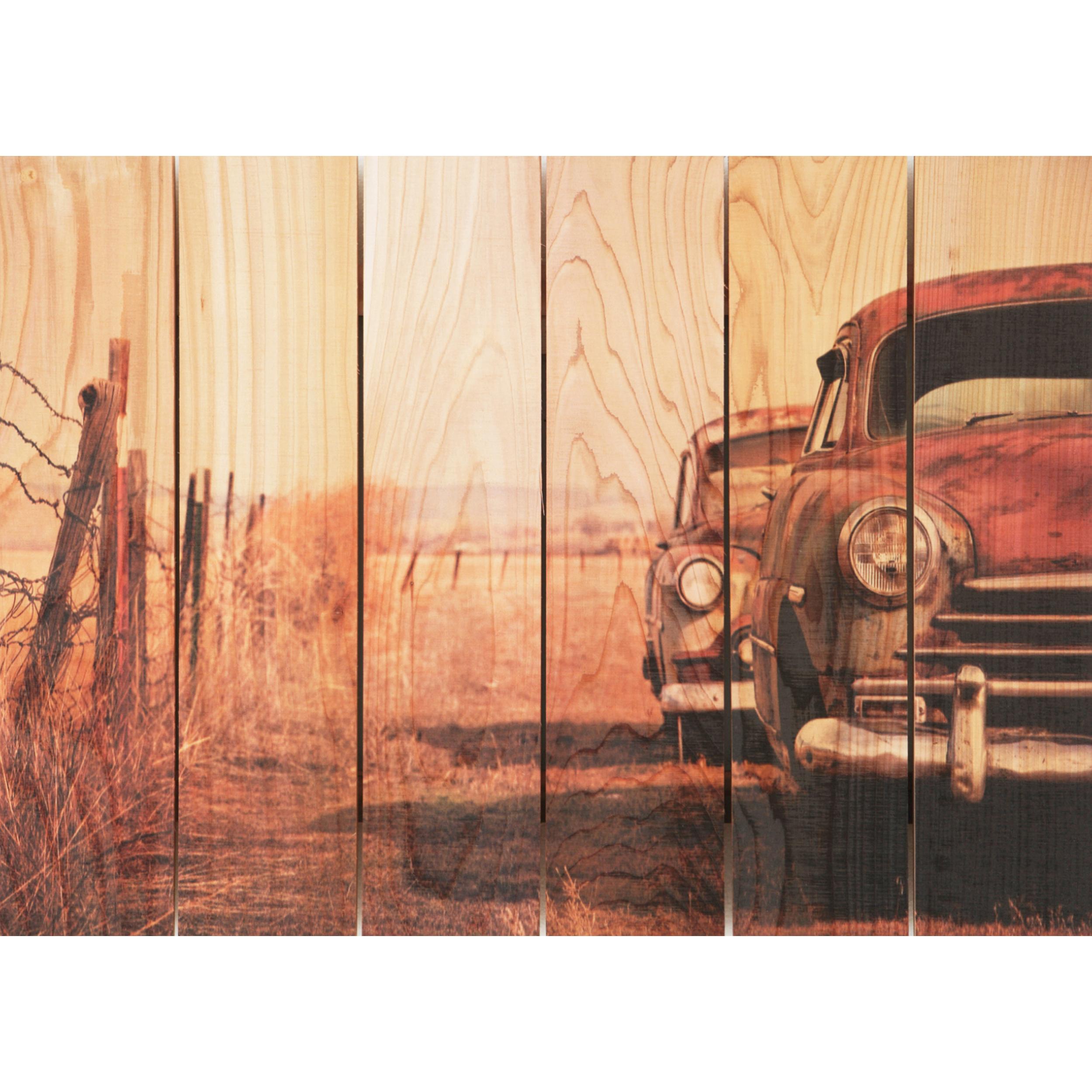 Daydream Gizaun Cedar Wall Art, Rest Stop, 33