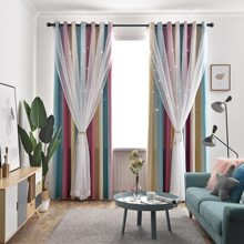 1pc Double Layer Mesh Curtain