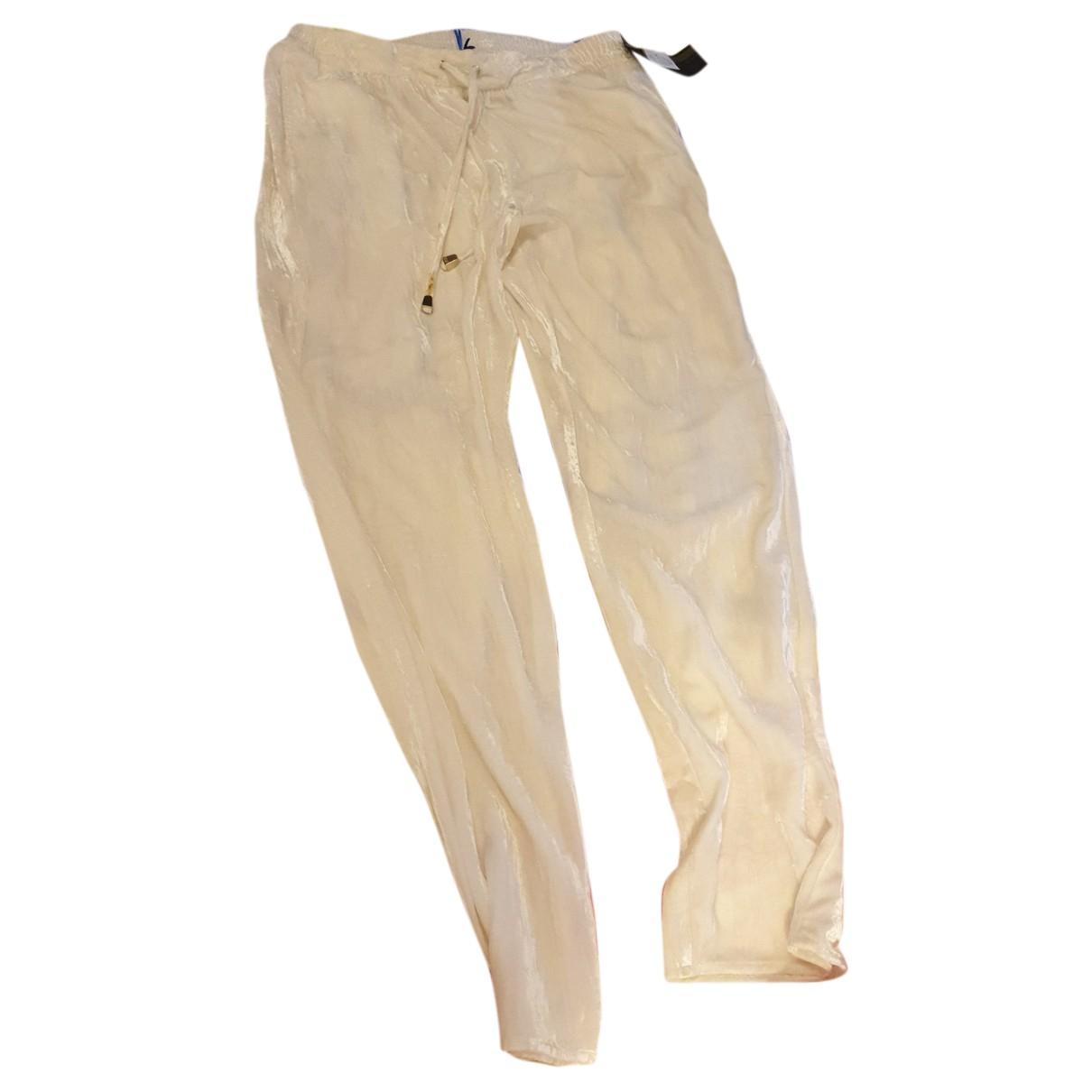 Versace Jean - Pantalon   pour femme - blanc