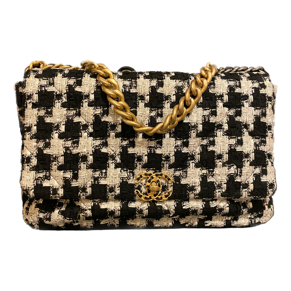 Chanel Chanel 19 Black Tweed handbag for Women N
