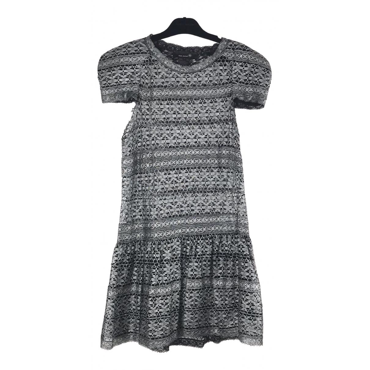 Isabel Marant Etoile \N Kleid in  Silber Baumwolle