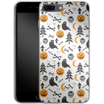 Apple iPhone 8 Plus Silikon Handyhuelle - Halloween Mix von caseable Designs