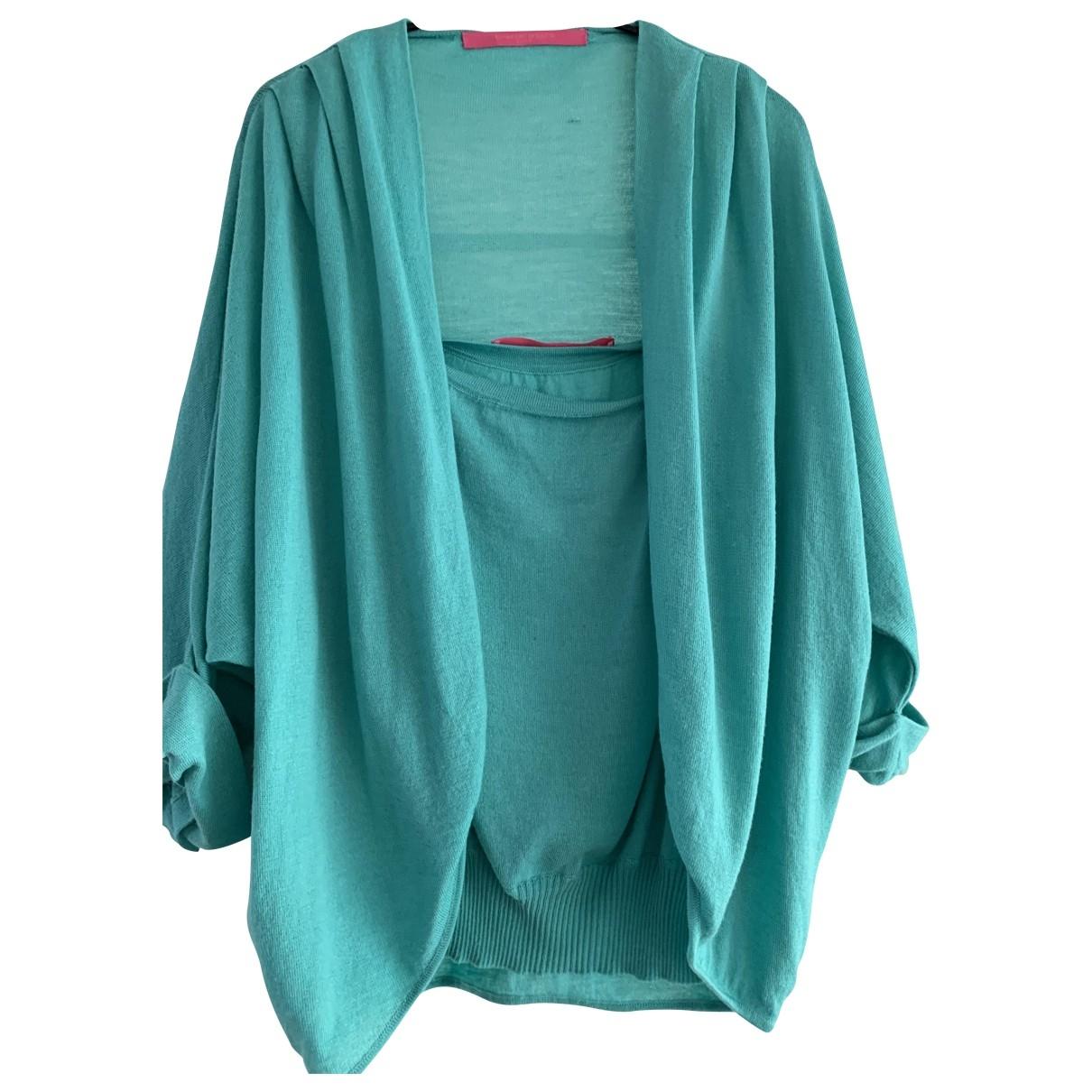 Emanuel Ungaro - Pull   pour femme en cachemire - turquoise