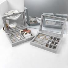 1pc Solid Jewelry Storage Box