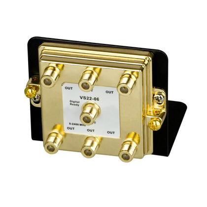 6-Way Splitter 2.4GHz on Mounting Bracket - Monoprice®