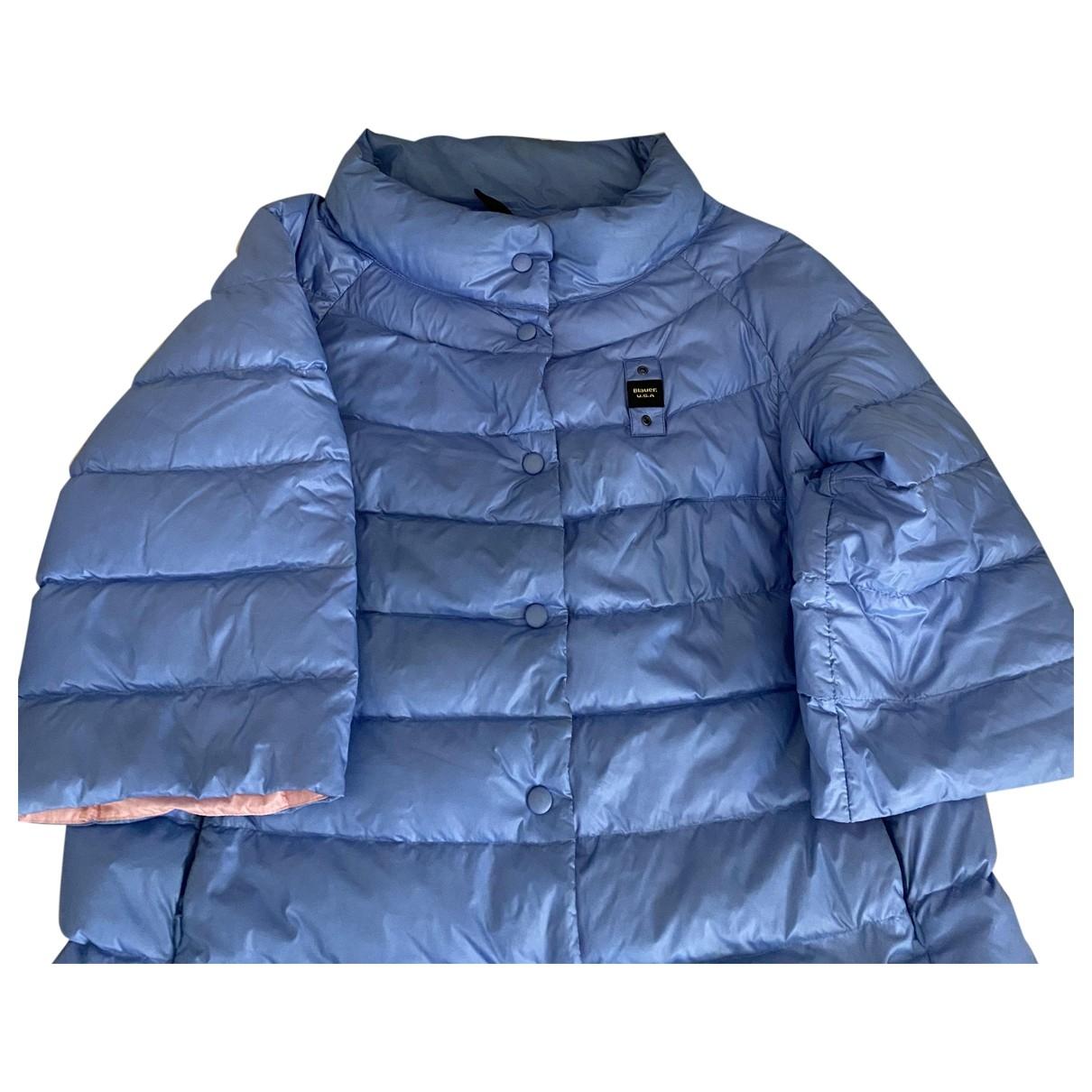 Blauer \N Jacke in  Blau Polyester