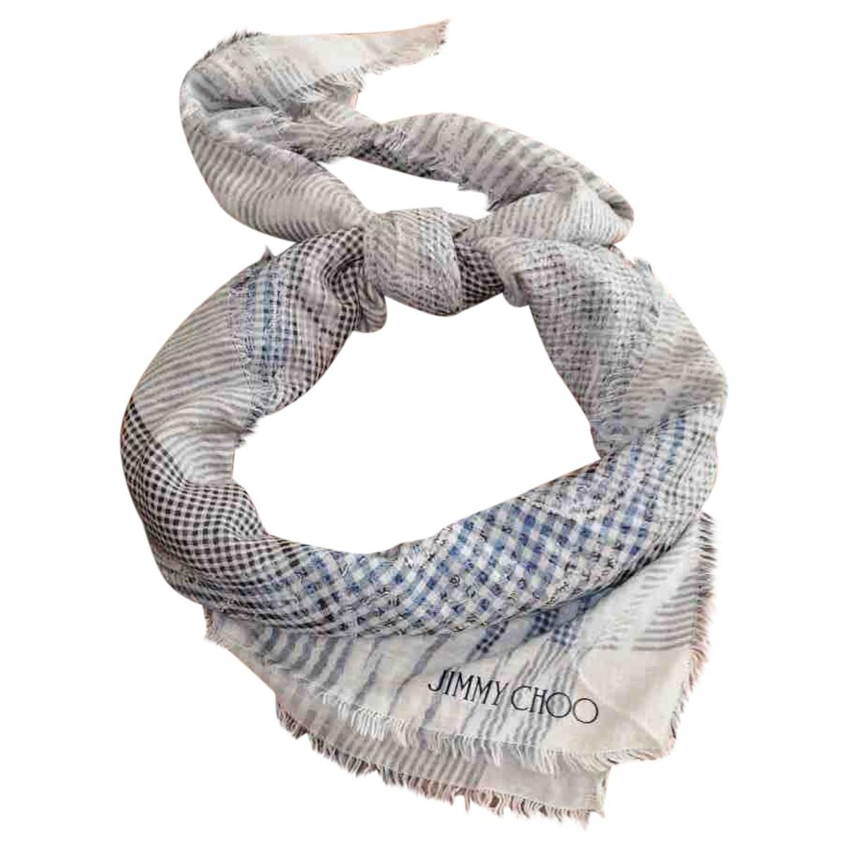 Jimmy Choo \N Schal in  Grau Baumwolle