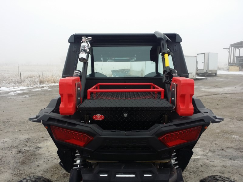 Ryfab B1KBRT Black Loaded Cargo Box RZR XP 1000 15-19
