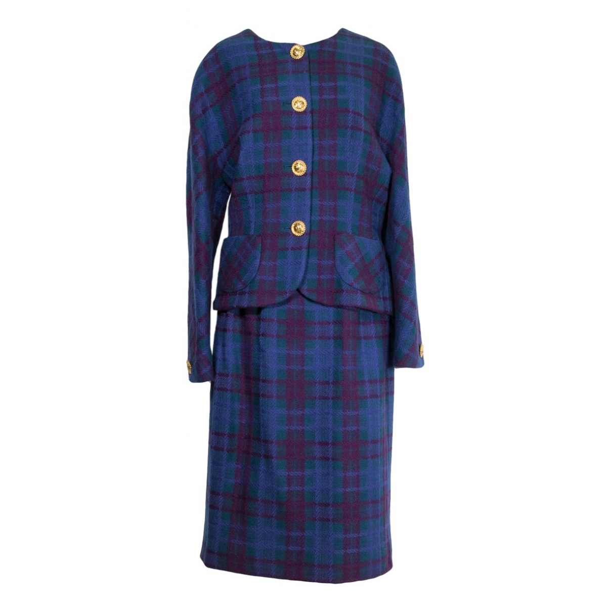 Celine \N Blue Wool jacket for Women 46 IT