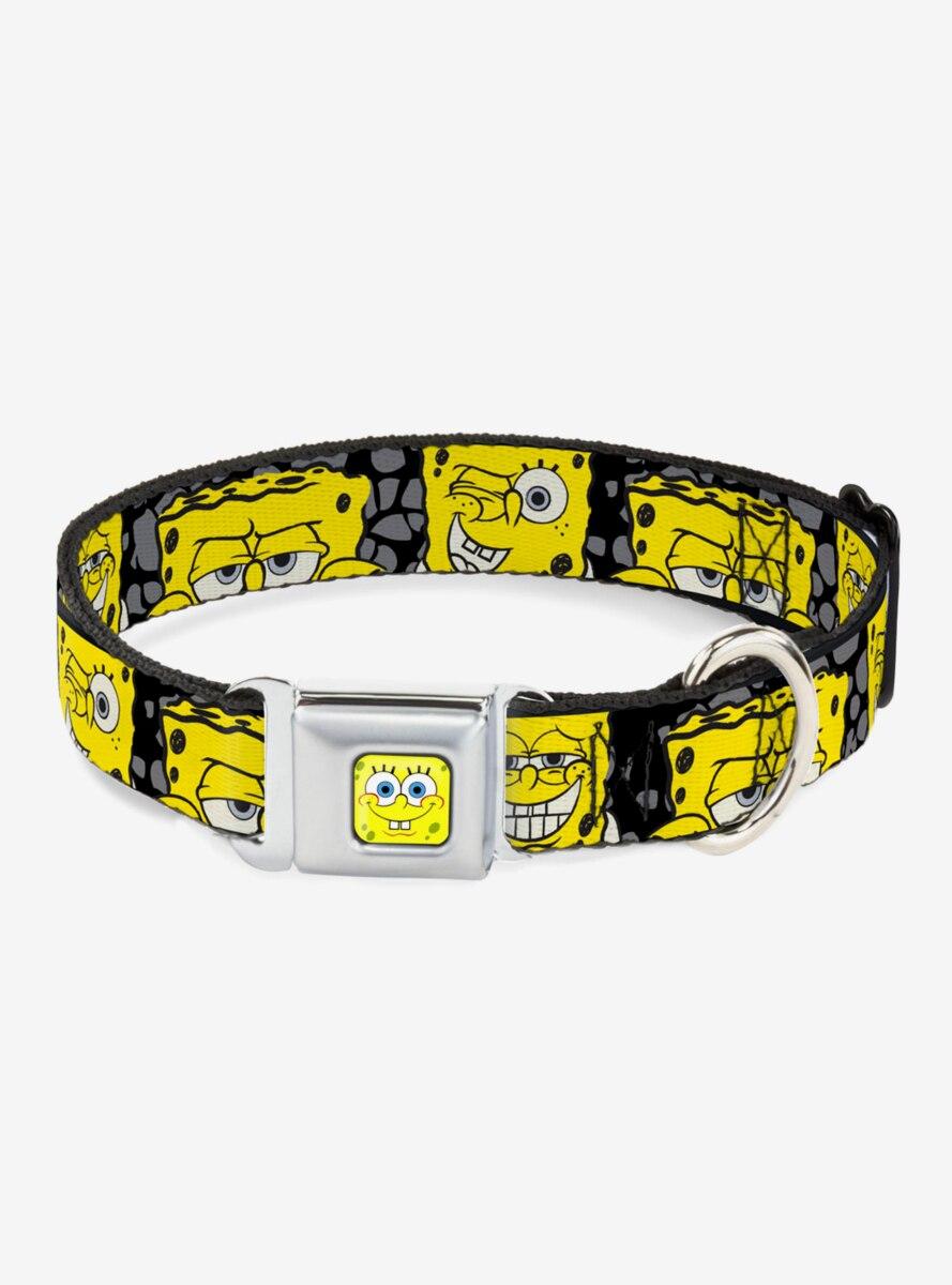 SpongeBob Close Up Expressions Dog Collar Seatbelt Buckle