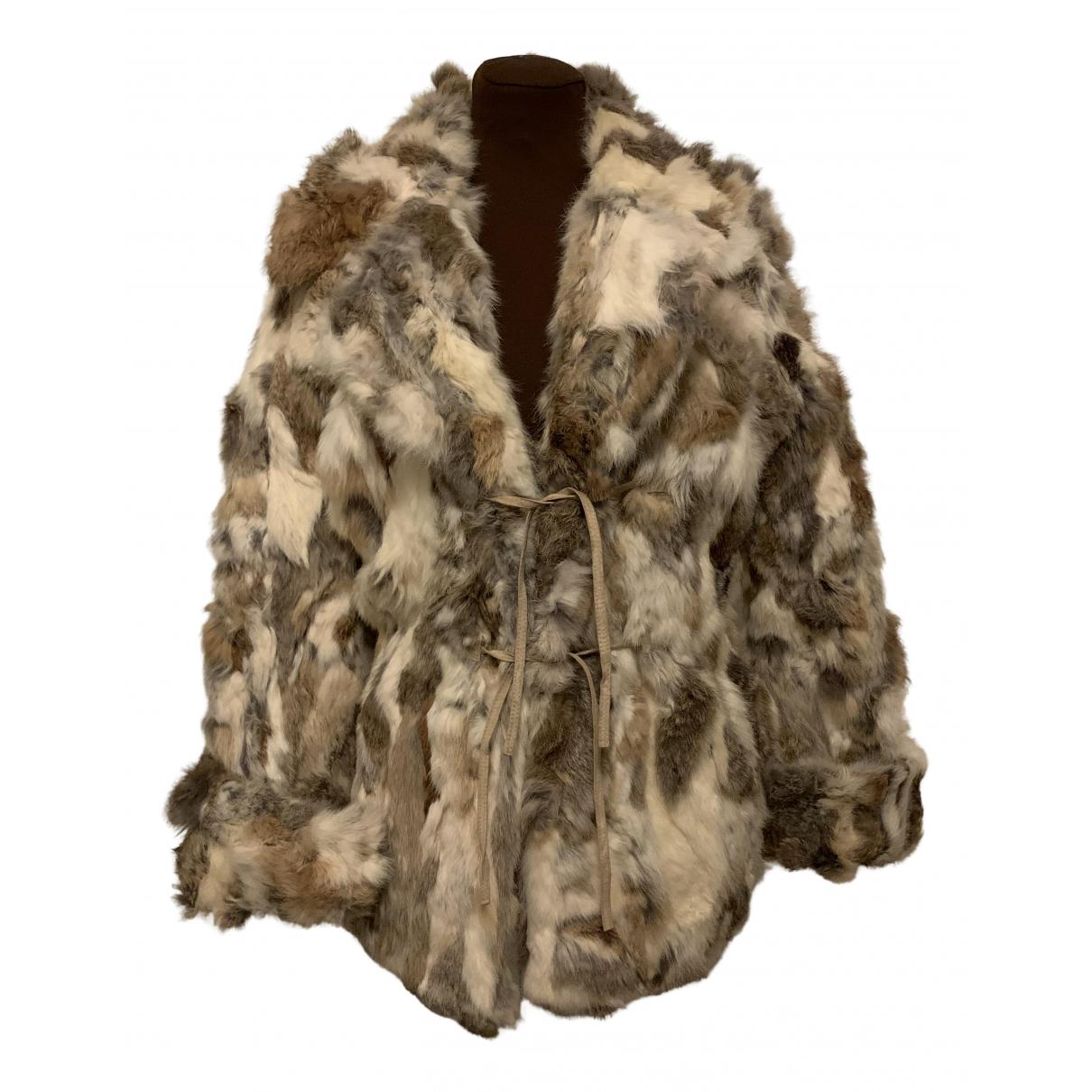 - Manteau Oversize pour femme en lapin - beige
