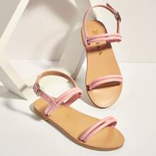 Toddler Girls Two Part Slingback Sandals