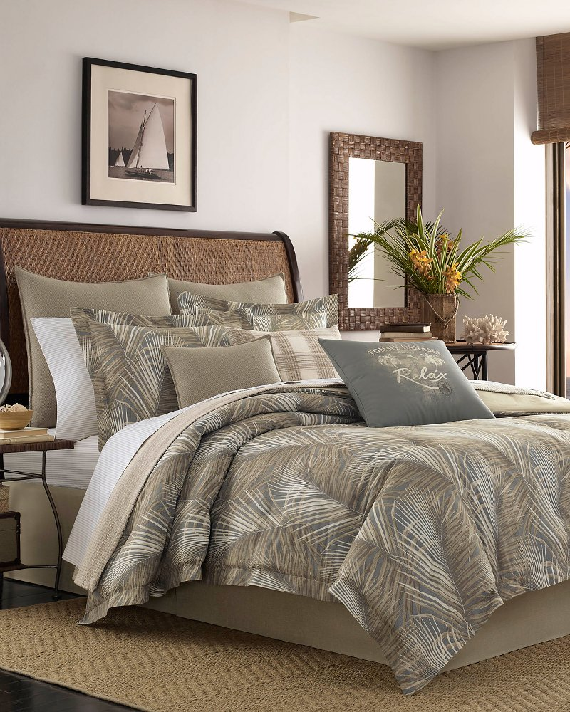 Raffia Palms Queen Comforter Set