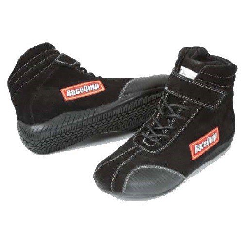 RaceQuip Euro Ankletop Racing Shoes - Black - Size 16