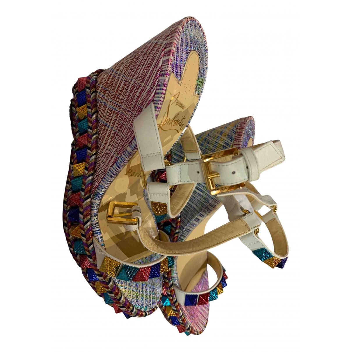 Louis Vuitton N Multicolour Leather Sandals for Women 36 EU