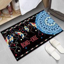 Bodenmatte mit Feder Muster