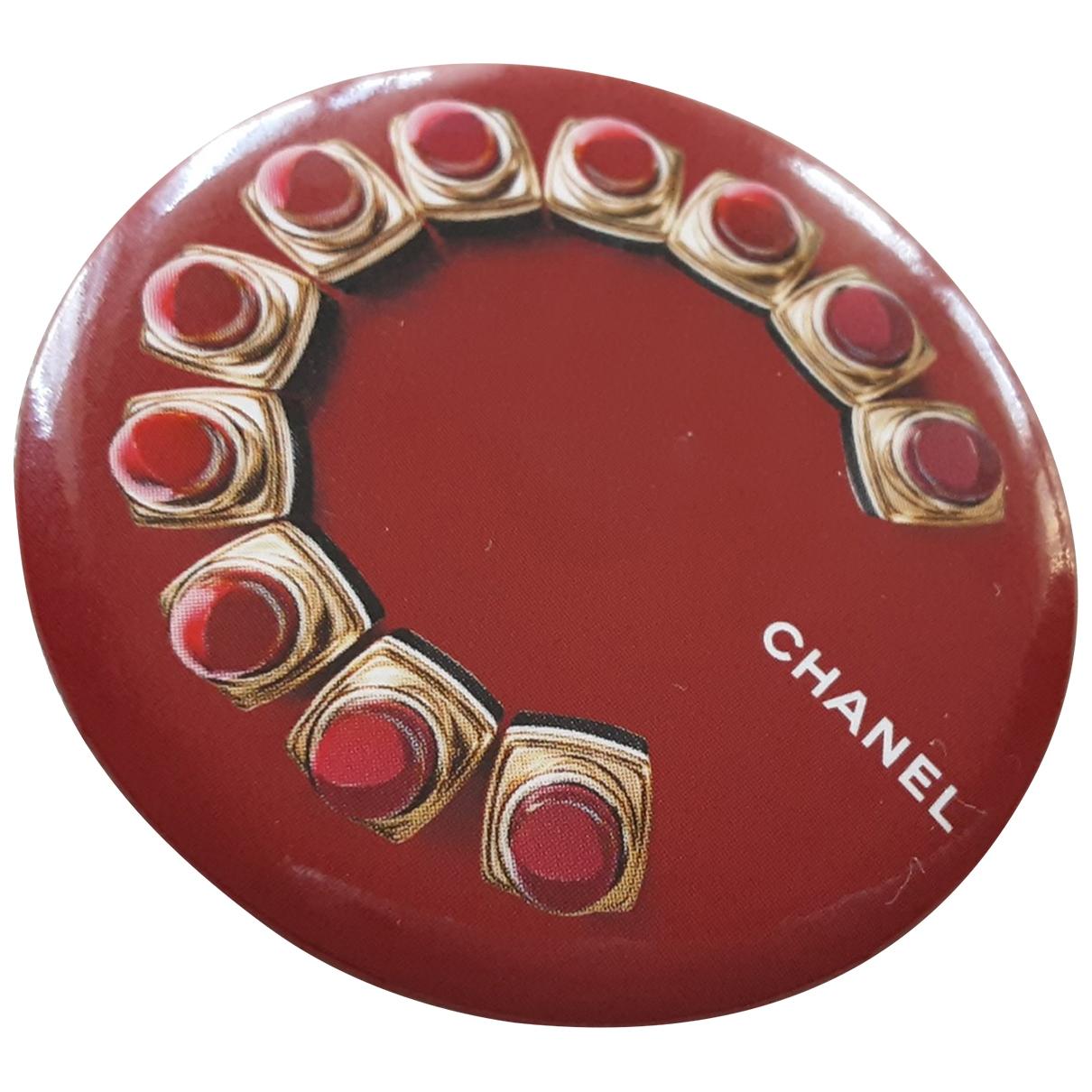 Chanel - Broche   pour femme en metal - rouge