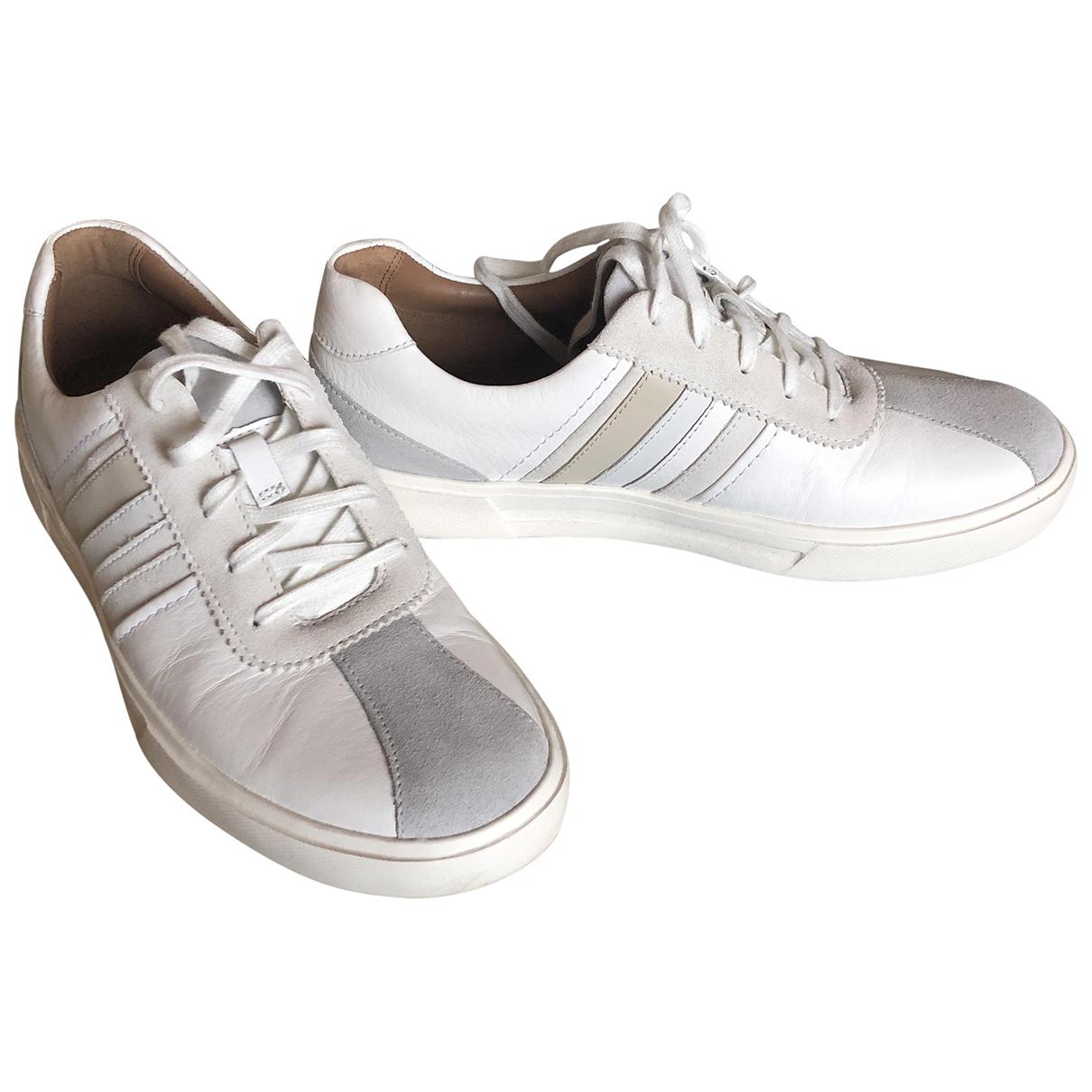 Clarks \N Sneakers in  Weiss Leder