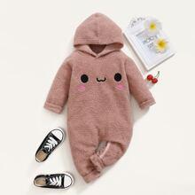 Mono teddy con bordado de dibujos animados
