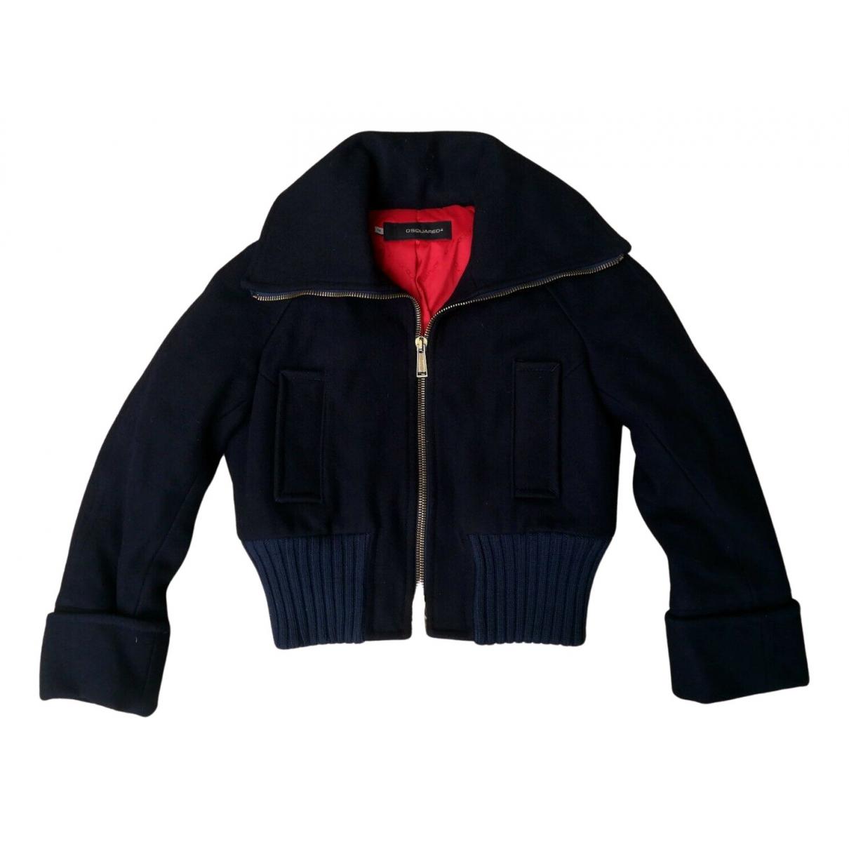 Dsquared2 \N Jacke in  Blau Wolle