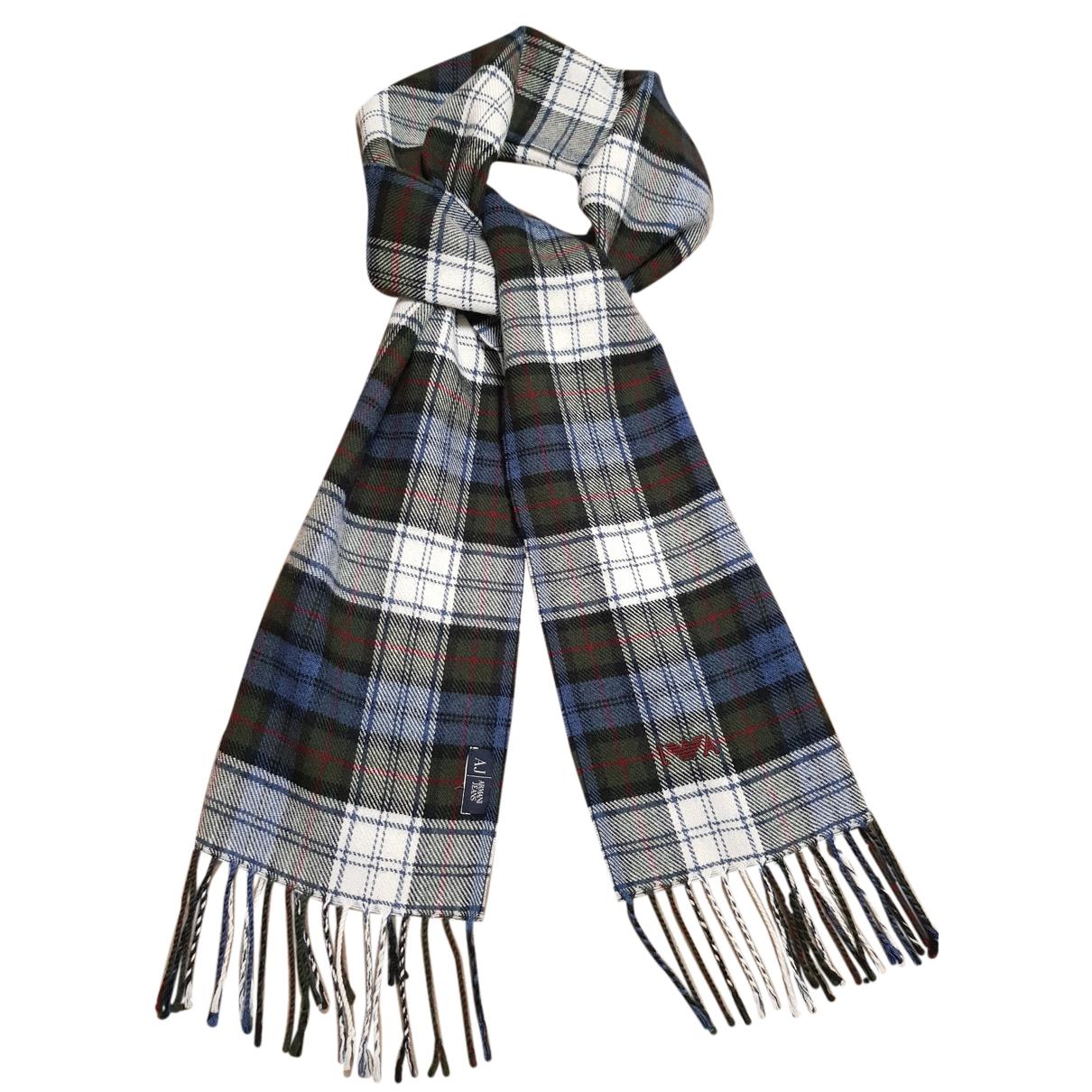 Armani Jeans \N Tuecher, Schal in  Blau Wolle