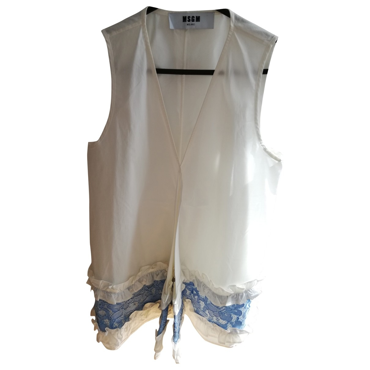 Msgm \N White Cotton  top for Women 42 IT