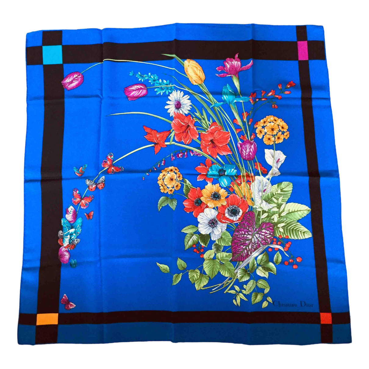 Dior N Blue Silk Silk handkerchief for Women N