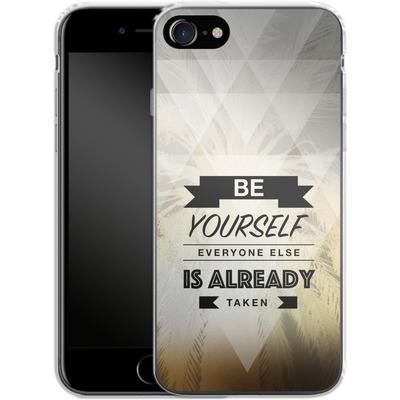 Apple iPhone 7 Silikon Handyhuelle - Be Yourself von Statements