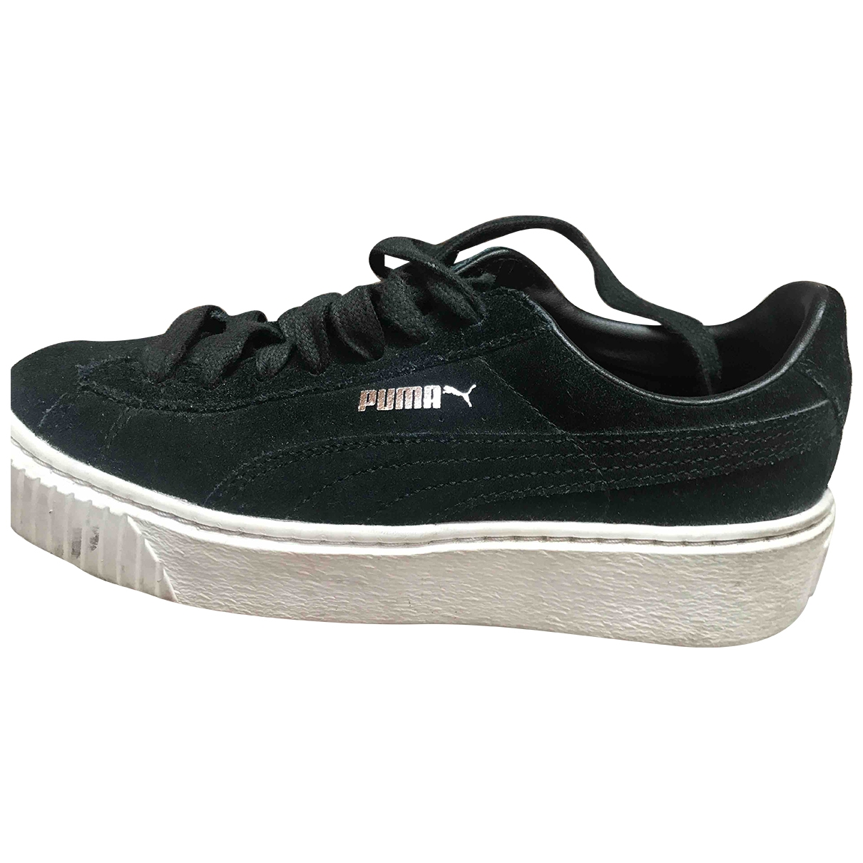 Puma \N Sneakers in  Schwarz Veloursleder