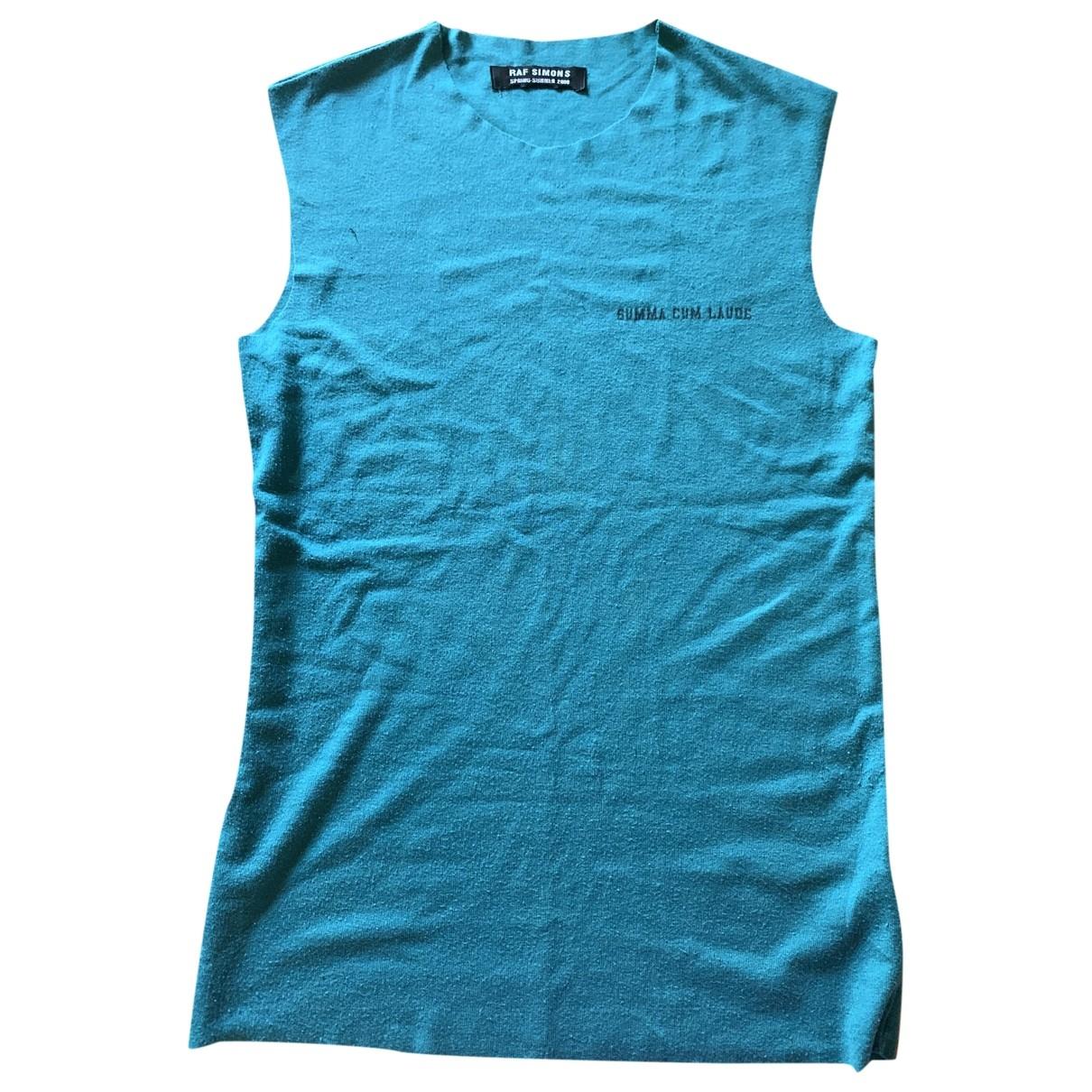Raf Simons - Tee shirts   pour homme en coton - bleu