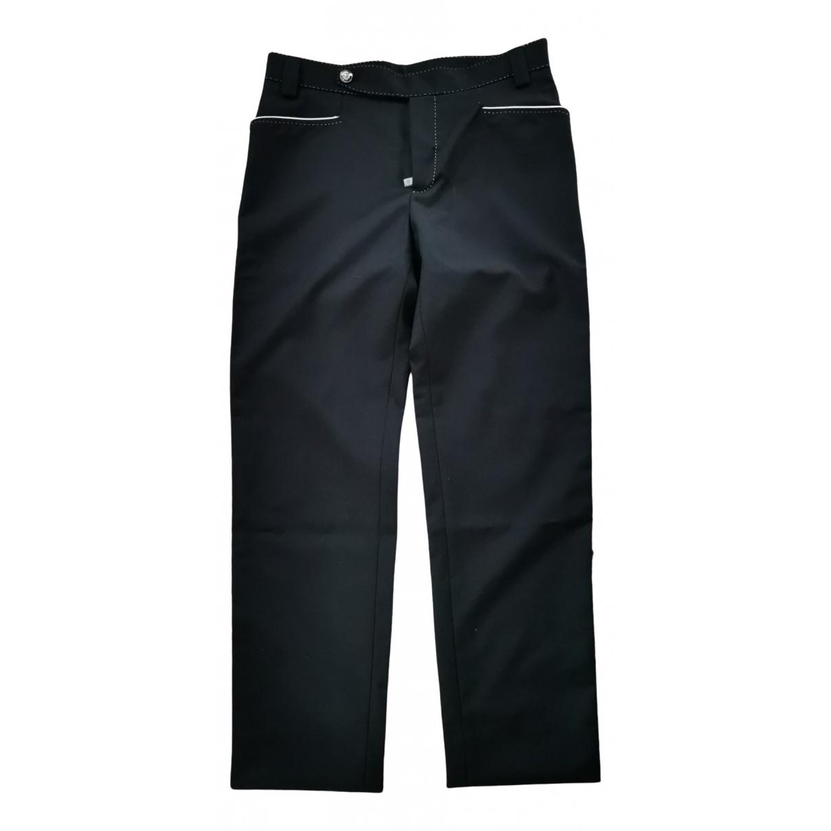 Dolce & Gabbana \N Black Wool Trousers for Women 46 IT
