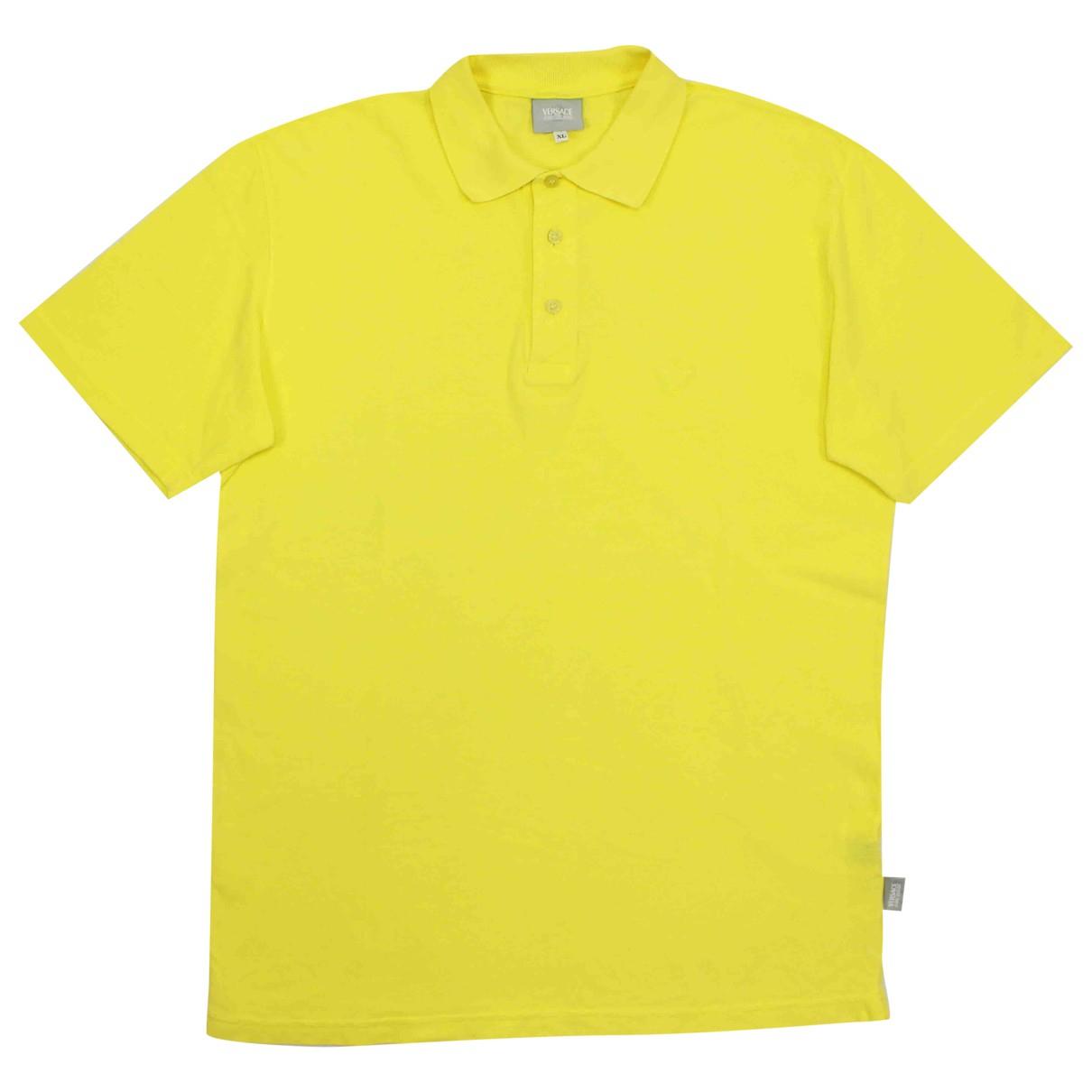 Versace Jean - Polos   pour homme en coton - jaune