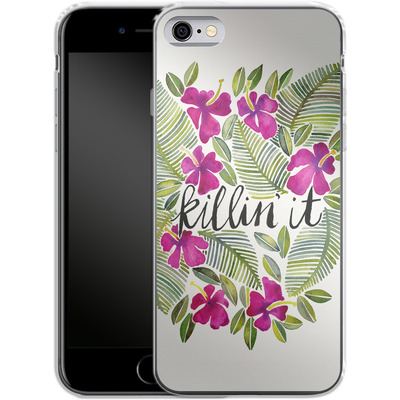 Apple iPhone 6s Silikon Handyhuelle - Killin It Pink von Cat Coquillette