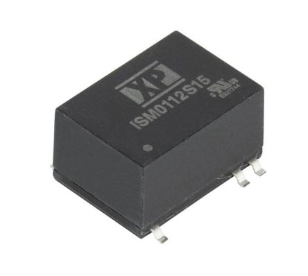 XP Power ISM01 1W Isolated DC-DC Converter Surface Mount, Voltage in 4.5 → 5.5 V dc, Voltage out 12V dc Medical