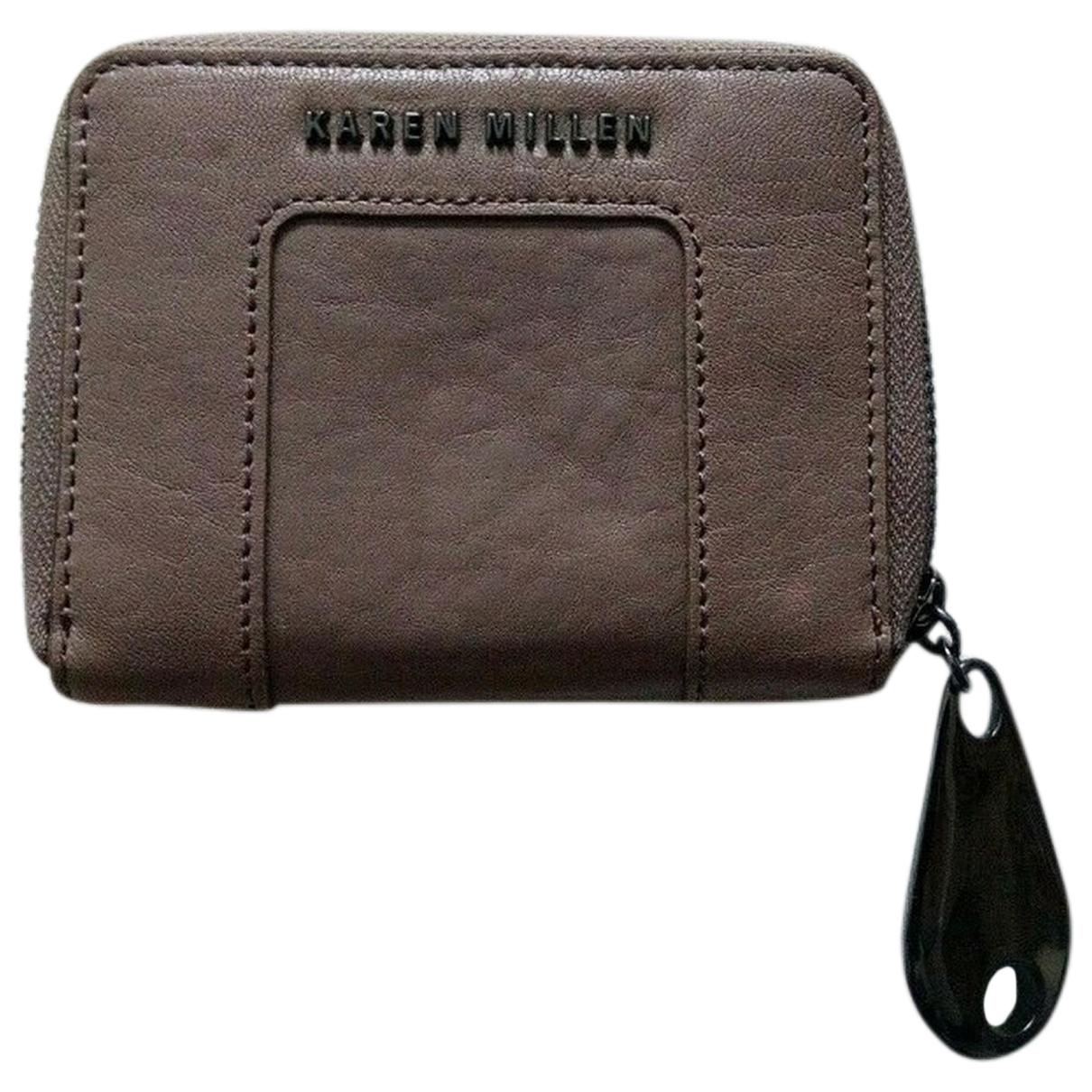 Karen Millen \N Handtasche in  Braun Leder