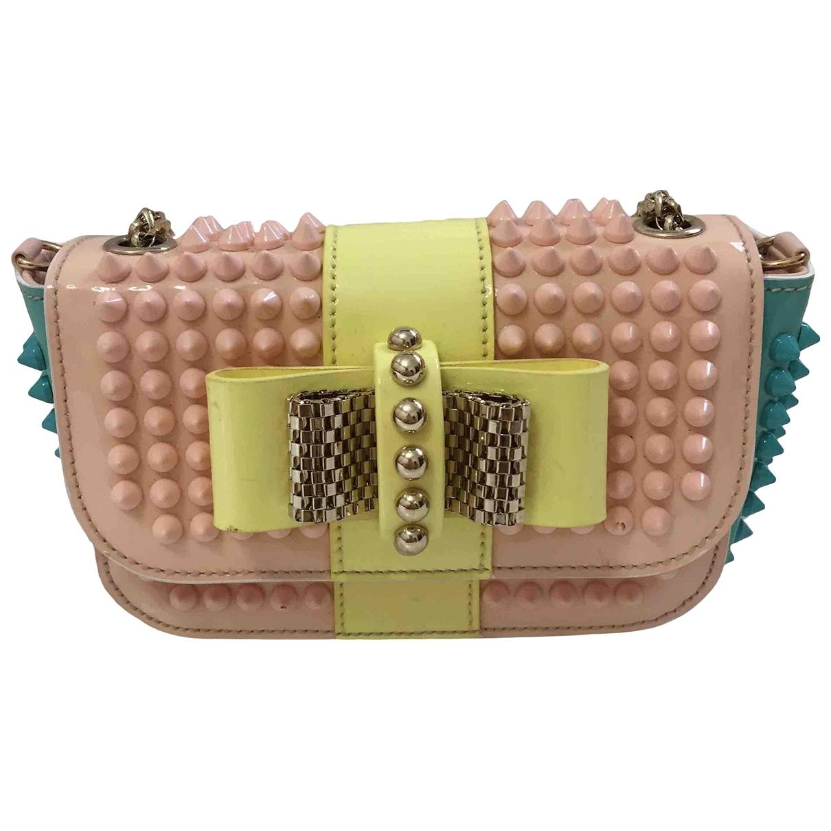 Christian Louboutin Sweet Charity Clutch in  Bunt Leder