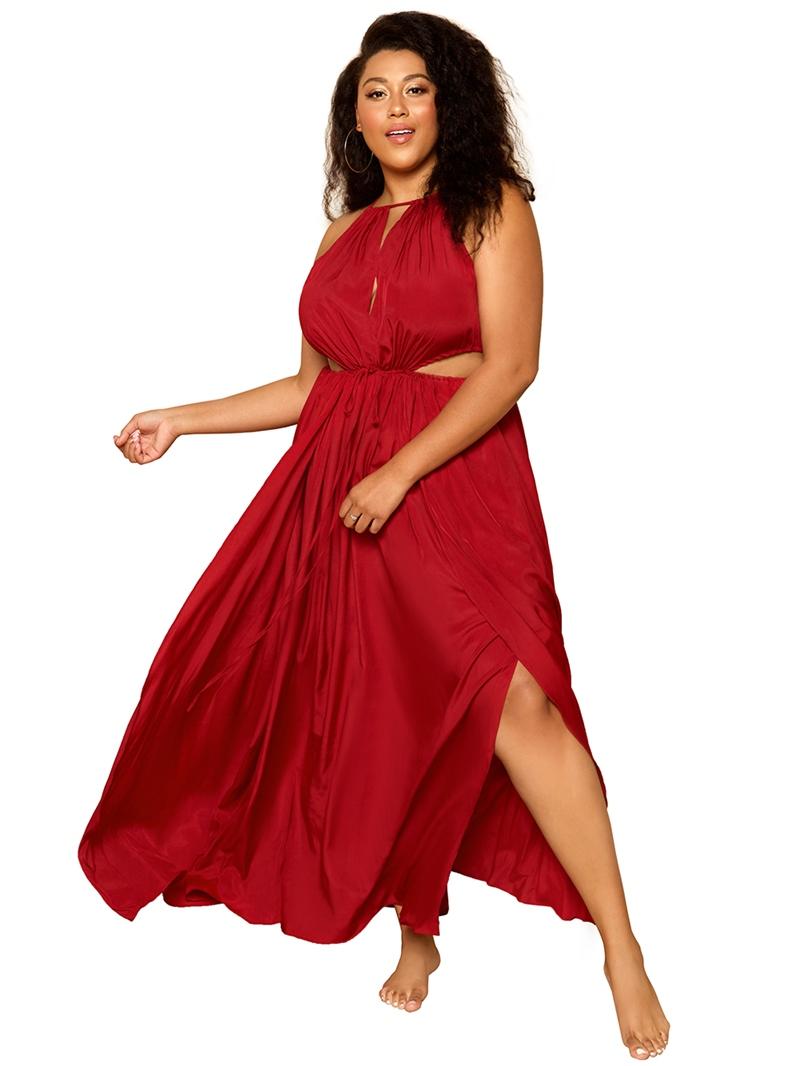 Ericdress Sleeveless Floor-Length Hollow Expansion Women's Pullover Dress