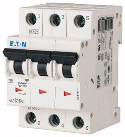 Eaton xEffect 4 A MCB Mini Circuit Breaker, 3P Curve C