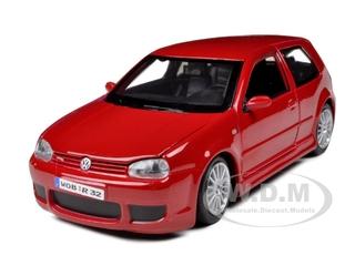 Volkswagen Golf R32 Red 1/24 Diecast Model Car by Maisto