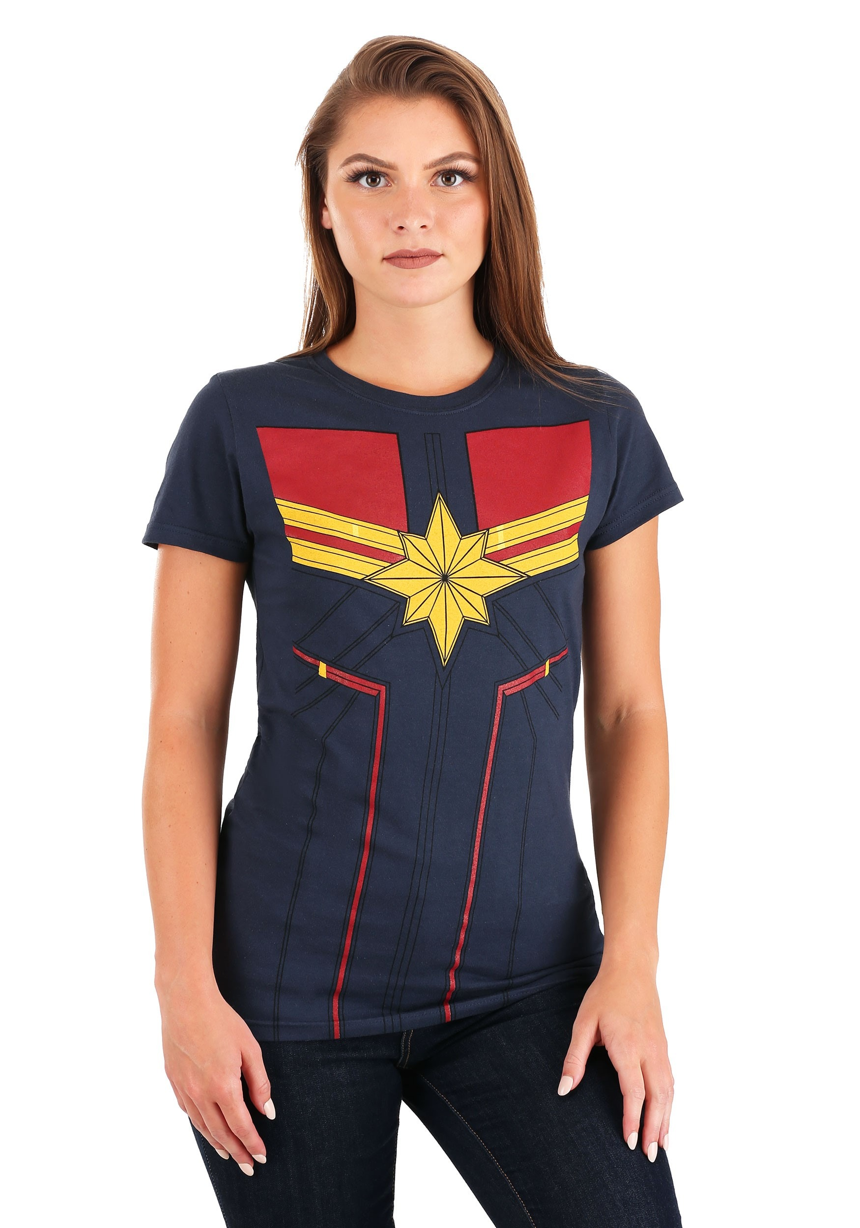 I am Captain Marvel Navy T-Shirt for Women